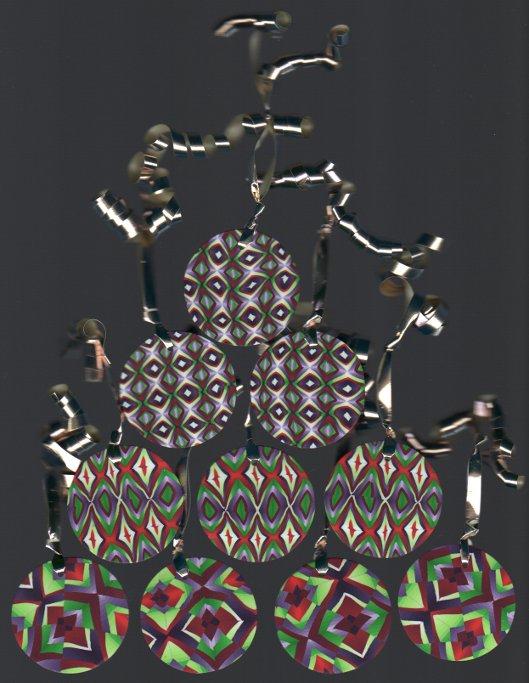 polymer clay tree ornaments