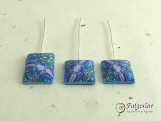 Blue kaleidoscope cane headpins