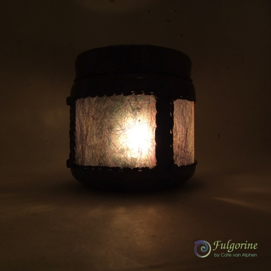 Candle jar by Cate van Alphen